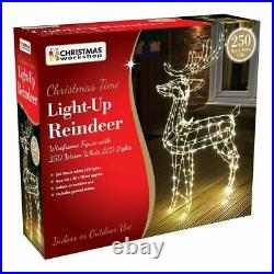 NEW Light Up Reindeer 115cm Tall Copper Wire Frame Christmas Outdoor Warm White