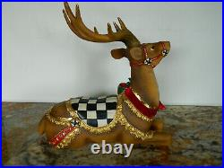 NEW MacKenzie-Childs Brown Bow Tie Deer Resting