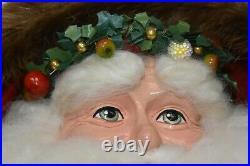 NEW Mackenzie Childs Yuletide Manor Santa Doll Velvet Courtly Check 27 Tall