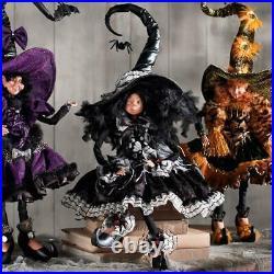 NEW Mark Roberts Curiosity Witch Oversized Hat 27 White & Black Halloween
