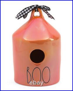 NEW Rae Dunn BOO IRIDESCENT Round Orange Birdhouse Halloween 2021 ONLINE SA