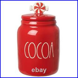 NEW Rae Dunn PEPPERMINT COCOA Baby Figural Canister LL ONLINE EXCLUSIVE