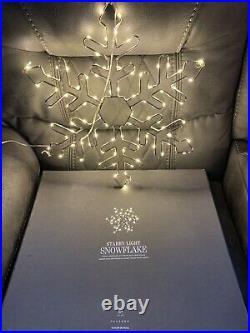 NEW Restoration Hardware Starry Light Snowflake LED Christmas Holiday 18'
