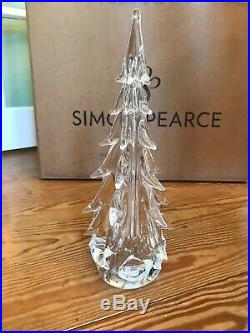 NEW SIMON PEARCE Vermont Five Sided Evergreen Tree very small chip on one branc