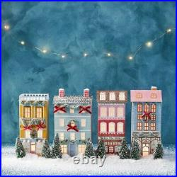 NWT Anthropologie George & Viv Light-Up Holiday Village Bakery Row House