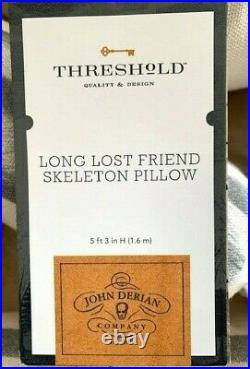 NWT John Derian Skeleton Long Lost Friend Pillow 63 Target Threshold Halloween