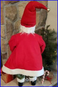 NWT Large 28 Red Green Santa holding Elf Doll Christmas Figure Display Prop