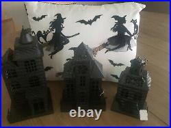 NWT Pottery Barn Haunted House, Set of 3, Includes hard to find Large