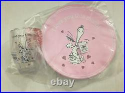 NWT Pottery Barn Kids Peanuts Valentine Charlie Brown Snoopy Plates Cups set