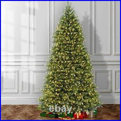 National Tree Company 12 Foot Pre-Lit Dunhill Fir Christmas Tree (Open Box)