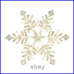 New 17 Snowflake Prelit Home Indoor Outdoor Window Christmas Decoration Light