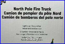 New Gemmy 9 Ft North Pole Fire Truck Department Christmas Airblown Inflatable