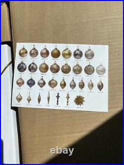 New In Box Frontgate Gold Rush 60 Pc Ornament Collection
