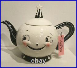New Johanna Parker Carnival Cottage By MagentaLaughing LunaCeramic Teapot VHTF