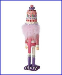New Kurt Adler Hollywood Bright Pink & Purple 18 WOOD Christmas Nutcracker