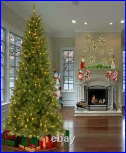 New National Tree Company 7 Foot Prelit Mixed Green Pine Christmas Tree
