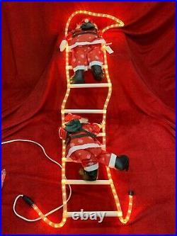 New Vintage 57 Christmas Decor Santa Climbing Rope Light Ladder Indoor Outdoor