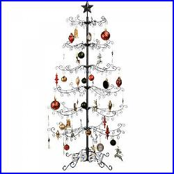 New Wrought Iron Christmas Tree Ornament Display with Easy Assembly, Stand 6ft