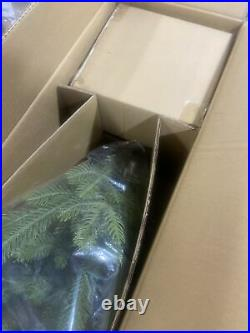 New in Box Balsam Hill 4' Alpine Tree in Basket Prelit with 75 Warm White LEDs