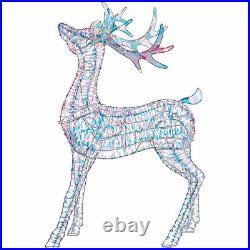 Noma 4 Ft Pre Lit LED Light Up Iridescent Deer Outdoor Holiday Lawn Decoration