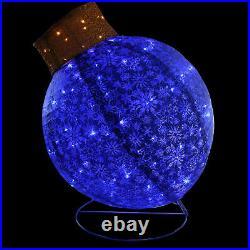 Northlight 36 LED Blue Twinkling Glitter Ball Ornament Christmas Yard Decor