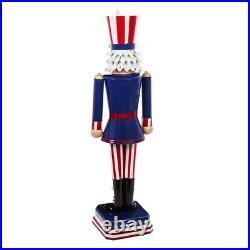 Nutcracker Statue Uncle Sam 50 LED Light Patriotic