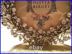 OLIVIA RIEGEL SWAROVSKI CRYSTAL LAUREL WREATH STOCKING HOLDER With PICTURE FRAME