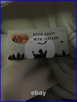 ORIGINAL Cracker Barrel RESIN GHOST WITH LANTERN Phantom 18 Halloween DECOR