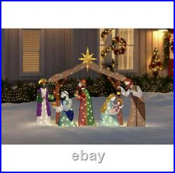 OUTDOOR NATIVITY SCENE Christmas Yard Decoration Warm White LED Lights