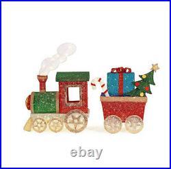 OUTDOOR TRAIN SET Christmas Yard Decoration Warm White LED Lights