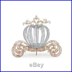 Outdoor Christmas Twinkling Carriage 5 ft. Tall LED Lighted Holiday Yard Decor