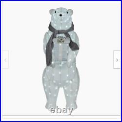Outdoor Gift Lighted Polar Bear Sculpture Christmas Yard Decor Display Large