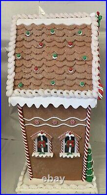 Oversized Illuminated Gingerbread House by Valerie Parr Hill 26 Tall