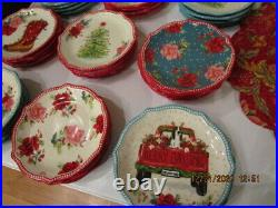 PIONEER WOMAN Christmas HOLIDAY Appetizer Plates Set Of 10