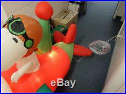 Peanuts Snoopy Woodstock Airplane Gemmy Animated AirBlown Inflatable Christmas