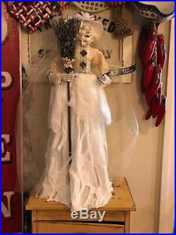 Pier 1 Halloween White Witch Figurine