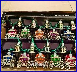 Pifco Vintage 20 Cinderella Christmas Lights. Boxed+mounts, in great condition