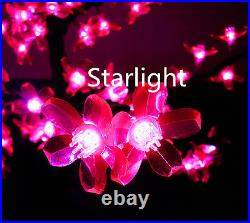 Pink 6.5ft/2m LED Cherry Blossom Tree 864 LEDs Home Wedding Party Outdoor Decor