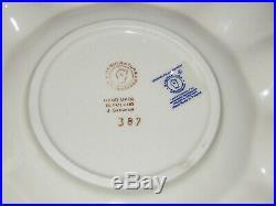 Polish Pottery Egg Plate! Bunny Pattern