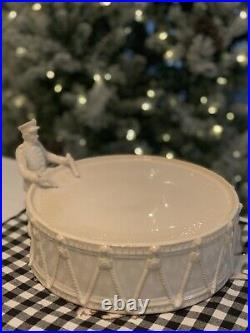 Pottery Barn 12 Days Of Christmas Drummer Boy Cake Pie Stand New WithTag Retired