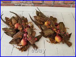 Pottery Barn Fall Harvest Thanksgiving Wall Swag Decor, Set of 2