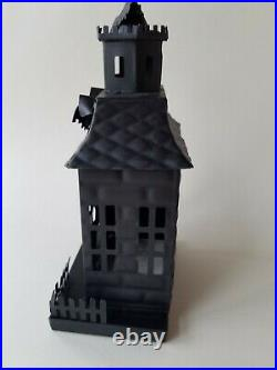 Pottery Barn Haunted Halloween Houses Metal Small Medium Large S/3 #4645A