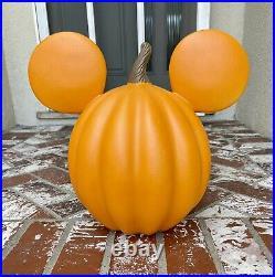 Pottery Barn Kids Disney Mickey Mouse Pumpkin Head Luminary Halloween Decor Rare