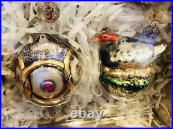 Pottery Barn Twelve Days of Christmas Mercury Glass Ornaments SET OF 12 Decor