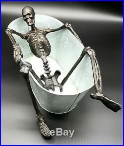 Pottery Barn WALKING DEAD Skeleton Bath Party Bucket Beer/Wine Halloween New