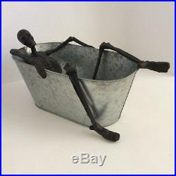 Pottery Barn WALKING DEAD Skeleton Bath Party Bucket Halloween New with Tags