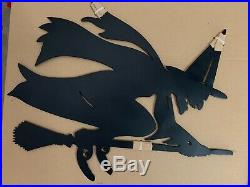 Pottery Barn WITCH'S COTTAGE IRON WALL ART Halloween Decor Front Door Entry NEW