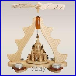 Pyramide Dresdner Frauenkirche für 4 Teelichter, Erzgebirge Zeidler 0102