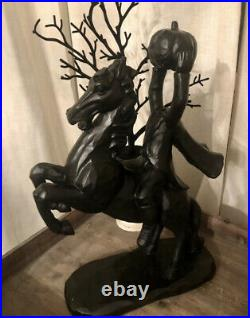 RARE Headless Horseman Statue HARD TO FIND HTF Halloween Fall Home Decor