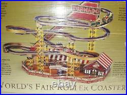 RARE Mr Christmas World's Fair Tornado Roller Coaster Music Box VIDEO